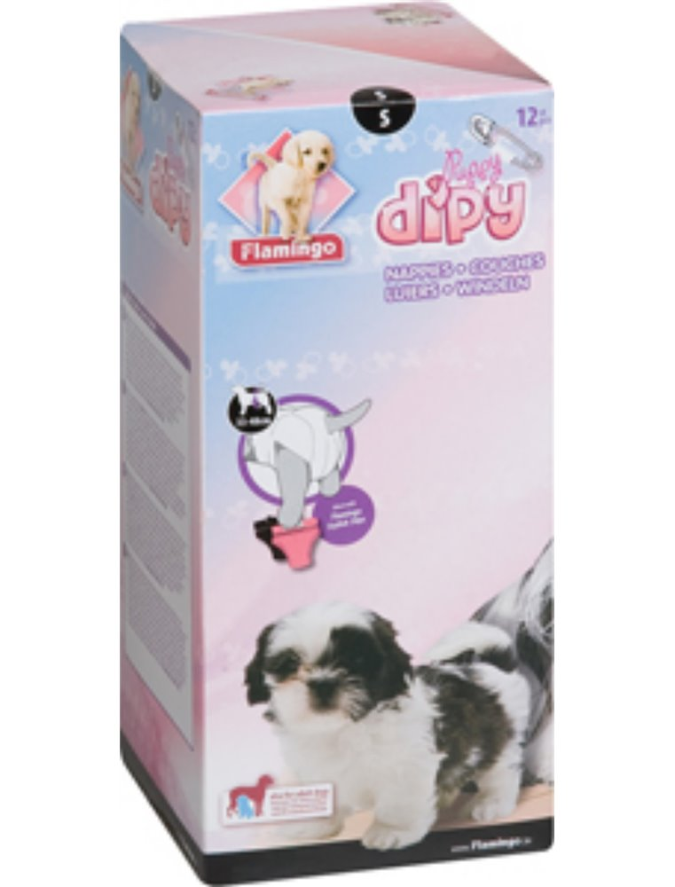 Hondenluiers dipy 12 st. - s