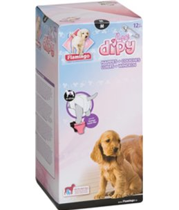 Hondenluiers dipy 12 st. - m