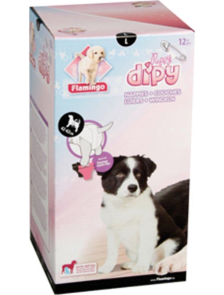 Hondenluiers dipy 12 st. - l