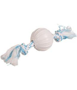 Denta toy touw met nylon bal