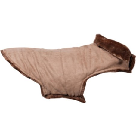 Hondenjas grizly beige ruglengte 45cm