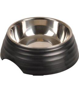 Eetpot aschau geribbeld mat zwart s 160ml