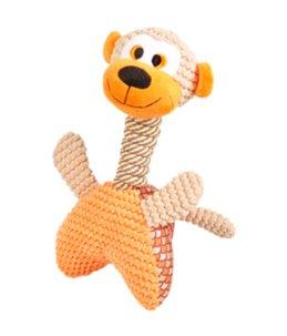 Elliot aap met armen oranje 30cm