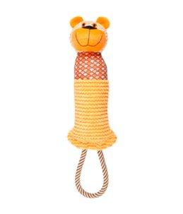 Elliot aap+dummy+touw oranje 44cm
