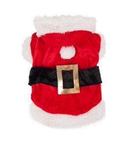 Hondentrui kerstman kostuum 40cm