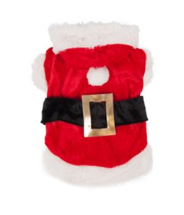 Hondentrui kerstman kostuum 45cm