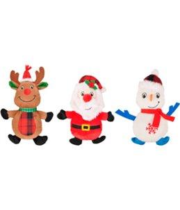 Kerst hs sneeuwman+rendier+kerstman 29cm ass disp