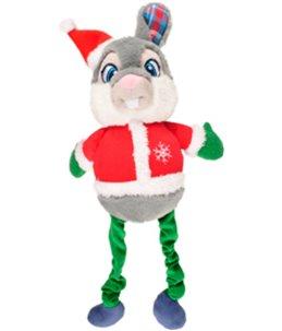 Kerst hs konijn + bungee benen 51cm