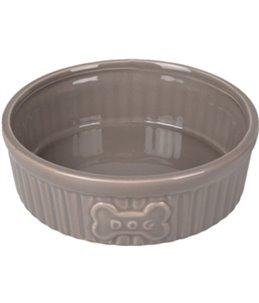 Eetpot hond mabel keramisch taupe 12,5cm 300ml