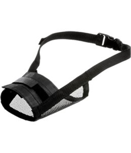 Muilband zacht xs/s 30-45cm neusomtrek 19-24cm zwart