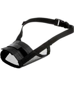 Muilband zacht s 35-48cm neusomtrek 20-25cm zwart