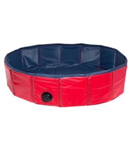 Doggy splash pool blauw/rood 80x 20cm