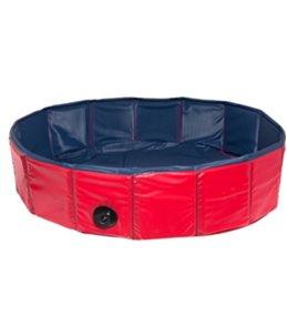Doggy splash pool blauw/rood 120x 30cm