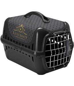 Transportbox luxurious zwart xs 32x50x31cm