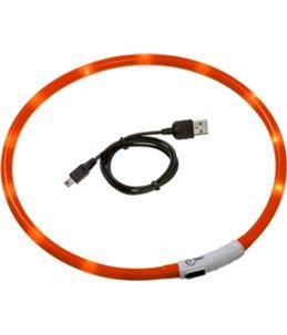 Visio light led halsband oranje70cm
