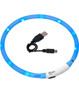 Visio light led halsband blauw 70cm