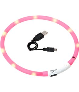 Visio light led halsband roze 70cm
