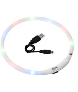 Visio light led halsband wit 70cm