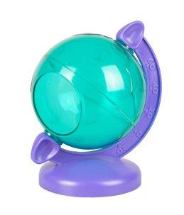 Ks bertrand wereldbol groen paars 12x10x14cm