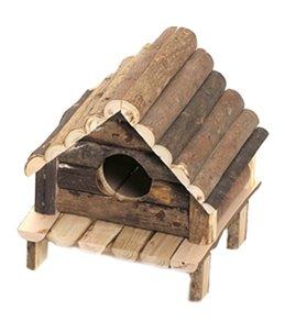 Knaagdierhuis wooden cabin 14x12x13cm