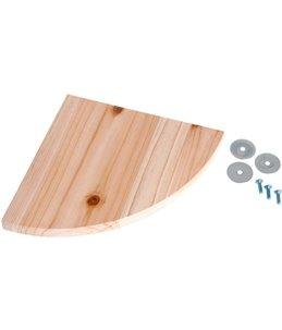 Zitplank natuurhout 22x22x1.8cm
