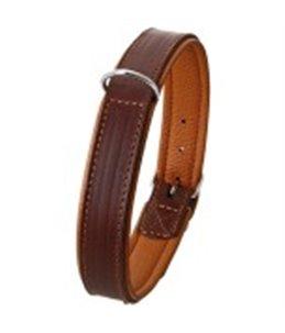 Rondo halsband ol bruin 42cm18mm