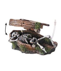Coffin w. skeleton bubble action