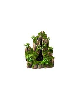 Waterfall with pump moss rock