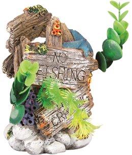 Decoratie 'no fishing' plantjes