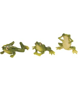 Decoratie frisky frogs ass.