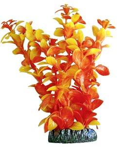 Aq. plant plastic cuba zalmkleur xs