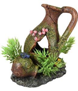 Ad moza kruiken+plant 11x8x11cm