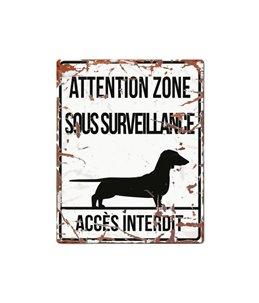 Plaque chien de garde:  Dachshund