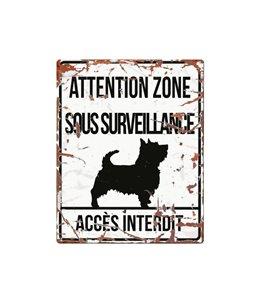 Plaque chien de garde:  Terrier