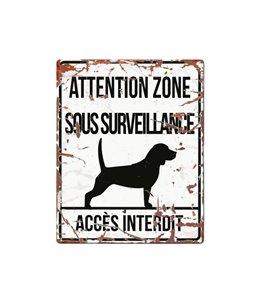 Plaque chien de garde:  Beagle