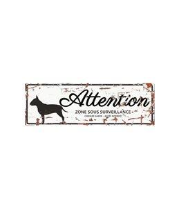 Plaque chien de garde:  Bull Terrier