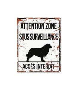 Plaque chien de garde:  Collie