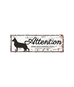 Plaque chien de garde:  German Shepherd