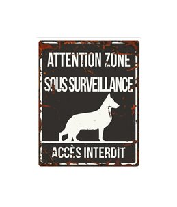 Plaque chien de garde:  German S.