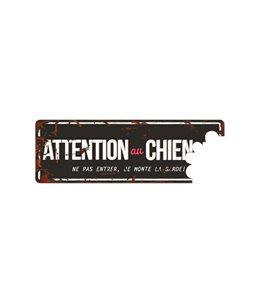 Plaque chien de garde:  'Attention au Chien'