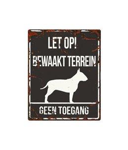 Waarschuwingsbord hond: Bull Terrier