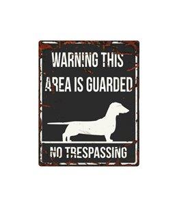 Beware of dog sign: Dachshund