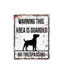 Beware of dog sign: Jack Russel