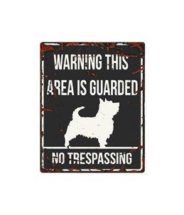Beware of dog sign: Terrier