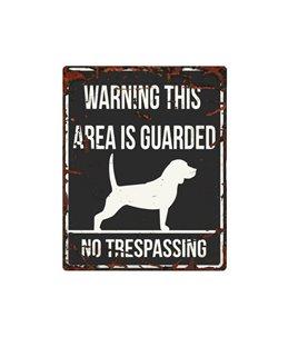 Beware of dog sign: Beagle