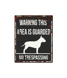 Beware of dog sign: Bull Terrier