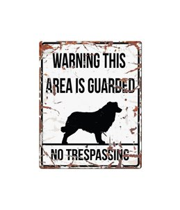 Beware of dog sign: Collie