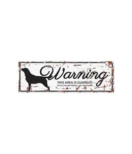 Beware of dog sign: Retriever