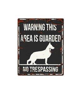 Beware of dog sign: German Shepherd
