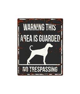 Beware of dog sign: Dalmatian